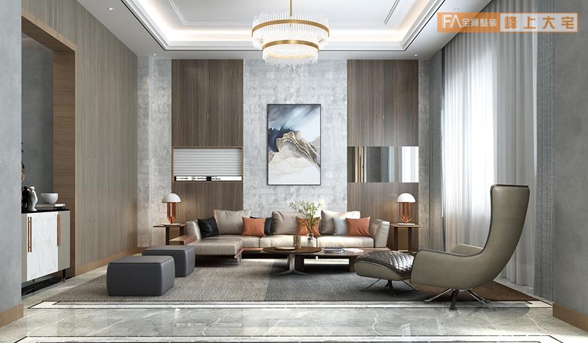 南京别墅装修|南京别墅装饰|南京320平米别墅现代简约风格|南京峰上大宅